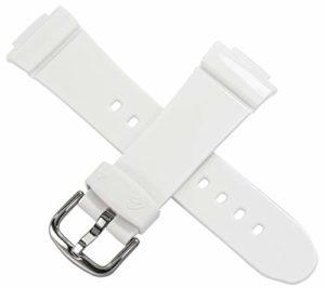 Casio Bracelet de Montre pour BG-6900 BG-6903 BG-140 QW-3297KT Blanc