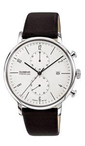 Dugena – 7000239 – Montre Homme – Quartz Chronographe – Bracelet Cuir Noir