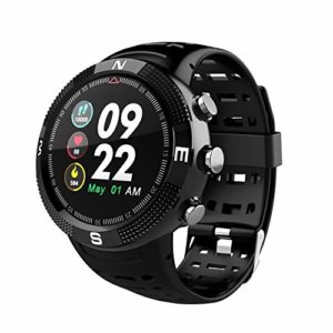 F18 Multi-Fonction GPS Positionnement Intelligent de Surveillance Multiples Sports Modes Depth Rappel de la santé étanche Black Watch