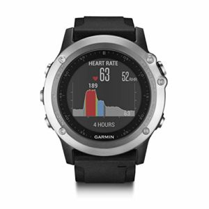 Garmin – Fēnix 3 Silver HR Cardio Poignet – Bracelet Silicone – Montre GPS Multisports Outdoor