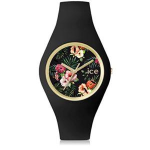 Ice-Watch – ICE flower Colonial – Montre noire pour femme avec bracelet en silicone – 001298 (Medium)