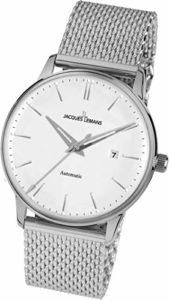 Jacques Lemans – N-212C – Montre Mixte – Automatique – Analogique – Bracelet Acier Inoxydable Argent