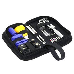 Kit d'outils professionnels de réparations de montres Mlxger®, tournevis amagnétique, kit d'outils portable, kit parfait pour l'horloger