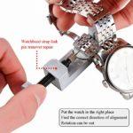 Kit Reparation Montre Outil Horloger Professionnel – STAGO 112pcs Outil Montre Kit de Outils Horloger Watch Repair Tool Pour Montre,Kit Demontage Bracelet Bande Lien Montre,Ouvreur de Boitier de la Montre,Outil de Remplacement des Piles