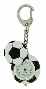 Montre Porte-Clés Park Lane Unisexe Ballon de Foot Noir et Blanc dans Boîte