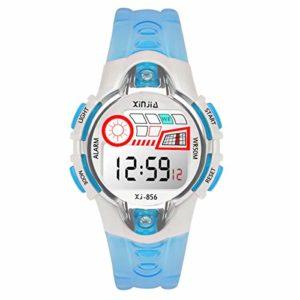 Montres Enfants Garçons Montre de Sport Electroniques Montres Bracelets garçons Montre numérique Digitale 50M étanche 12/24H/chronomètre/rétro-éclairage LED