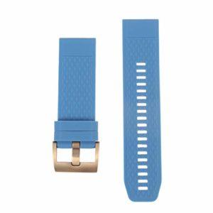NICERIO Compatible avec Les Montres Garmin Fenix 5X 3 3HR – Bracelet de Montre en Silicone Bracelet de Montre de Remplacement Bracelet pour Bracelet – Bleu