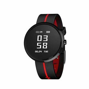 Noir Intelligent Bracelet Pression artérielle Fréquence Cardiaque Sommeil Surveillance SMS étanche Podomètre Appel Rappel Montre Sport Unisexe