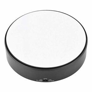 Professionnel 360 Degrés Rotatif Tournant pour Photographie, 3KG Capacité Réglable Plateforme Vitesse pour 360 Degrés Images, Bijouterie Support Montre Verre Miroir Présentoir