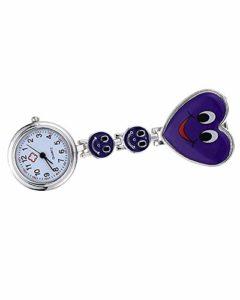 SAMGU Nouveau smiley infirmière montre montre de poche Couleur Violet