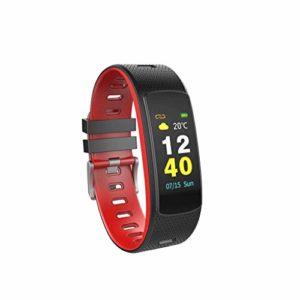 Smart Montre Connectée Android iOS Montre de Cardiaque Tension Bracelet de Montre Intelligente de Téléphone Tracker de Sommeil Fitness Courir LED Bluetooth 4.0 Montre WiFi (Bleu)