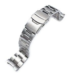 Super Oyster Bracelet de montre Type II pour modèles SEIKO Diver SKX007/009/011 à extrémités incurvées