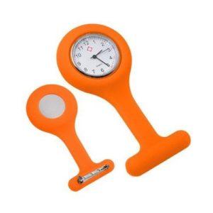 TOOGOO(R) Montre a gousset d'infirmiere en silicone avec broche Orange