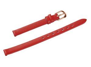 Uyoung 8mm pour Femme Rouge Cuir véritable Rose doré Fermoir Mince Bracelet de Montre