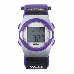 WobL Watch – Violet – montre de rappel 8 alarmes de vibration, aident à contrôler la transition du pot aux toilettes