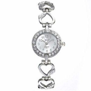 ZSDGY Ensemble de Montre en Alliage, Bracelet Bracelet Peach Heart String Quartz Watch B