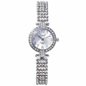 ZSDGY Montre de Quartz de Bracelet de Diamant de Digital, Montre de Bracelet de Poignet A