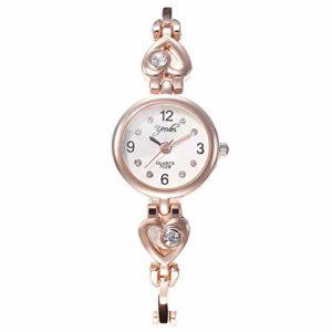 ZSDGY Montre-Bracelet de Quartz de Bracelet de Bracelet de Diamant de Coeur de pêche de Digital, Montre Simple élégante A