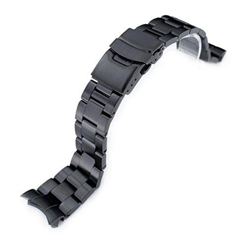 22mm Super Oyster Bracelet de montre, DE REMPLACEMENT pour Seiko Skx007, Skx009, Skx011, PVD noir