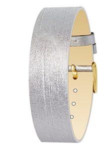 Bracelet Argenté pour Femmes Moog Paris en Tissu, Effet Moiré, Largeur 18mm – PM-110G