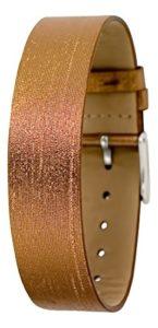 Bracelet Cuivre pour Femmes Moog Paris en Tissu, Effet Moiré, Largeur 18mm – PM-105XL