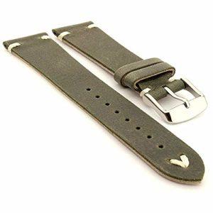 Bracelet De Montre en Cuir Vintage Daim, Bande De Bracelet Montre, Cuir VéRitable Bracelet Bande, Bracelet De Montre De Cuir pour, Bracelet Montre Cuir Hommes, Cuir Bracelet Montre Homme (18mm)