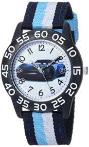 Disney pour garçon Cars 'à Quartz Plastique et Nylon décontracté Montre, Couleur: Bleu (modèle: Wds000437)