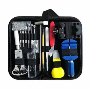 FYstar 147pcs Kit d'outils de réparation de Montres Watch Link Pin Remover Case Opener Spring Bar Remover Horlogemaker Gereedschap Repair Tool Set (Multicolor)