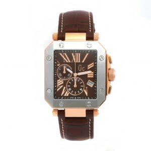 Gc – Homme – I50001G1 – Se2 – Quartz Chronographe – Cadran Marron – Marron – Bracelet Cuir