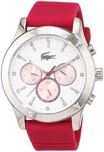 Lacoste Watches – 2000941 – Montre Femme – Quartz Analogique – Cadran Blanc – Bracelet Silicone Rose