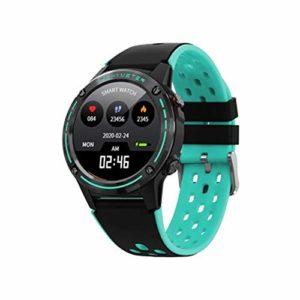 LCTS Montre de Sport Intelligente Bluetooth Smart Watch Watch, avec GPS/Boussole/Appel, Surveillance de la Pression artérielle de la fréquence Cardiaque, Système de Formation Scientifique,Vert