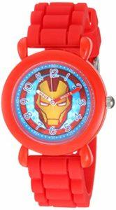 Marvel WMA000390 Montre à Quartz analogique pour garçon avec Bracelet en Silicone Rouge 16