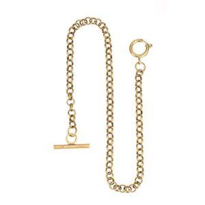 Montre de poche Chaîne – Cuivre ManChDa Chaîne de montre avec T-BAR crochet Lien 14 pouces d'or Magnifique Chaîne de gilet