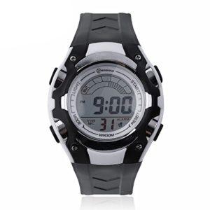 Montre Watch Enfant Digital quartz Etanche Chrono Alarme Plusieurs Coloris (blanche)