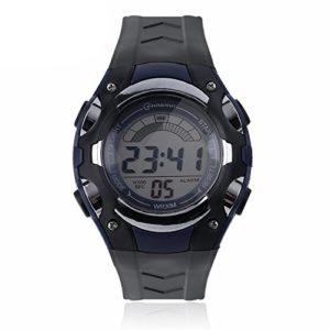 Montre Watch Enfant Digital quartz Etanche Chrono Alarme Plusieurs Coloris (bleu)