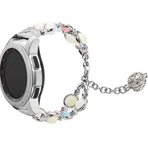 NICERIO Compatible pour Bracelet de Montre Samsung Galaxy – Bracelet de Montre de Bijoux en Agate de 42 Mm Bracelet de Remplacement de Montre de Bracelet de Montre Intelligente