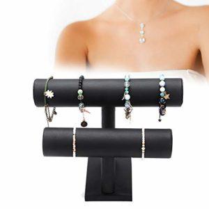 Porte-Bracelet, Support de Montre Amovible, Organisateur pour Afficher Le Collier de Montre, Bijoux pour Femmes et Hommes en Noir (2#)