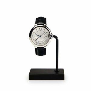 presentoir bijoux,Présentoir de montre en métal, affichage simple de haute qualité, version coréenne du support de montre en acrylique – noir