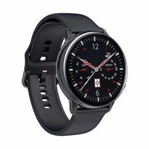 Sports Smart Watch Full Smart Screen Screen Smart Bracelet, avec suivi des sports / charge sans fil, fréquence cardiaque, pression artérielle, surveillance de la santé de l'oxygène dans le sang,Noir