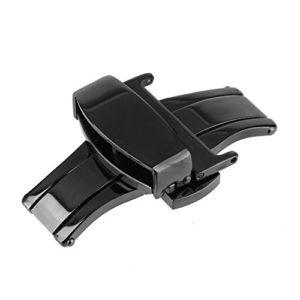 Beauty7 Boucle Deployante Noir Polissage 14mm – 22mm Fermoir en Acier Remplacement Pour Bracelet Montre Bande de Poignet Largeur 4cm Boucle Wrist Watch Strap