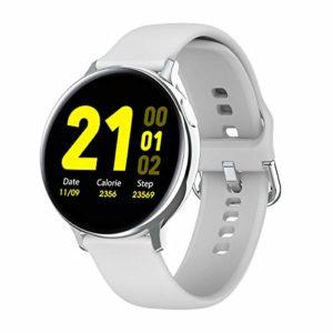 fancheng S20 Montre Intelligente Écran Rond Full Touch IP68 Étanche Fréquence Cardiaque Pression Artérielle ECG Montre Daffaires Multisports