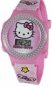 Hello Kitty Girl's Pink Digital Light Up Watch