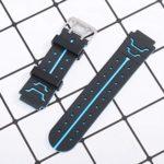 ibasenice Bracelet de montre en silicone pour enfant 16 mm Remplacement rapide Bracelet de montre de rechange pour garçons et filles et Smartwatch, avec outil de tige à ressort