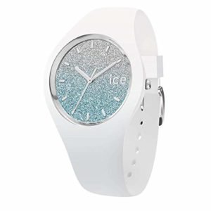 Ice-Watch – ICE lo White blue – Montre blanche pour femme avec bracelet en silicone – 013429 (Medium)