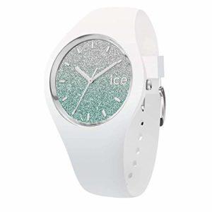 Ice-Watch – ICE lo White turquoise – Montre blanche pour femme avec bracelet en silicone – 013430 (Medium)