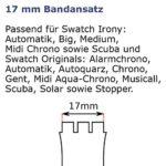 Original Swatch AGK342 Pendentif slip cuff avec bande de 17 mm
