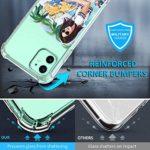 Suhctup Coque Filles Compatible pour iPhone 11,Etui [Antichoc Airbag] Transparent Silicone TPU Souple Mode Motif Crystal Housse de Protection Case pour iPhone 11,Filles 6