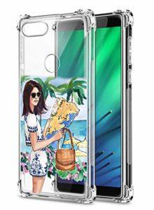 Suhctup Coque Filles Compatible pour Xiaomi Mi 8 Lite,Etui [Antichoc Airbag] Transparent Silicone TPU Souple Mode Motif Crystal Housse de Protection Case pour Xiaomi Mi 8 Lite,Filles 6