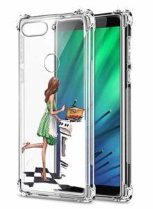 Suhctup Coque Filles Compatible pour Xiaomi Redmi Y3,Etui [Antichoc Airbag] Transparent Silicone TPU Souple Mode Motif Crystal Housse de Protection Case pour Xiaomi Redmi Y3,Filles 2