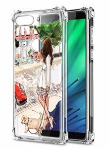 Suhctup Coque Filles Compatible pour Xiaomi Redmi Y3,Etui [Antichoc Airbag] Transparent Silicone TPU Souple Mode Motif Crystal Housse de Protection Case pour Xiaomi Redmi Y3,Filles 4